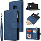 UEEBAI Wallet Case for Samsung Galaxy S9, Premium Vintage PU Leather Magnetic Closure Handbag Zipper Pocket Case…