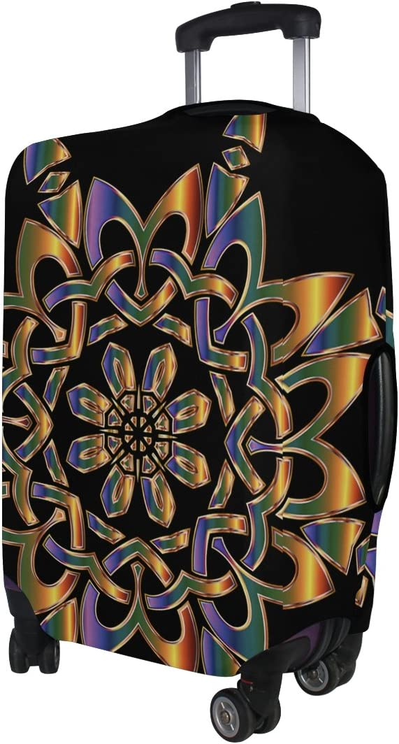 LEISISI Abstract Snowflake Luggage Cover Elastic Protector Fits XL 29-32 in Suitcase