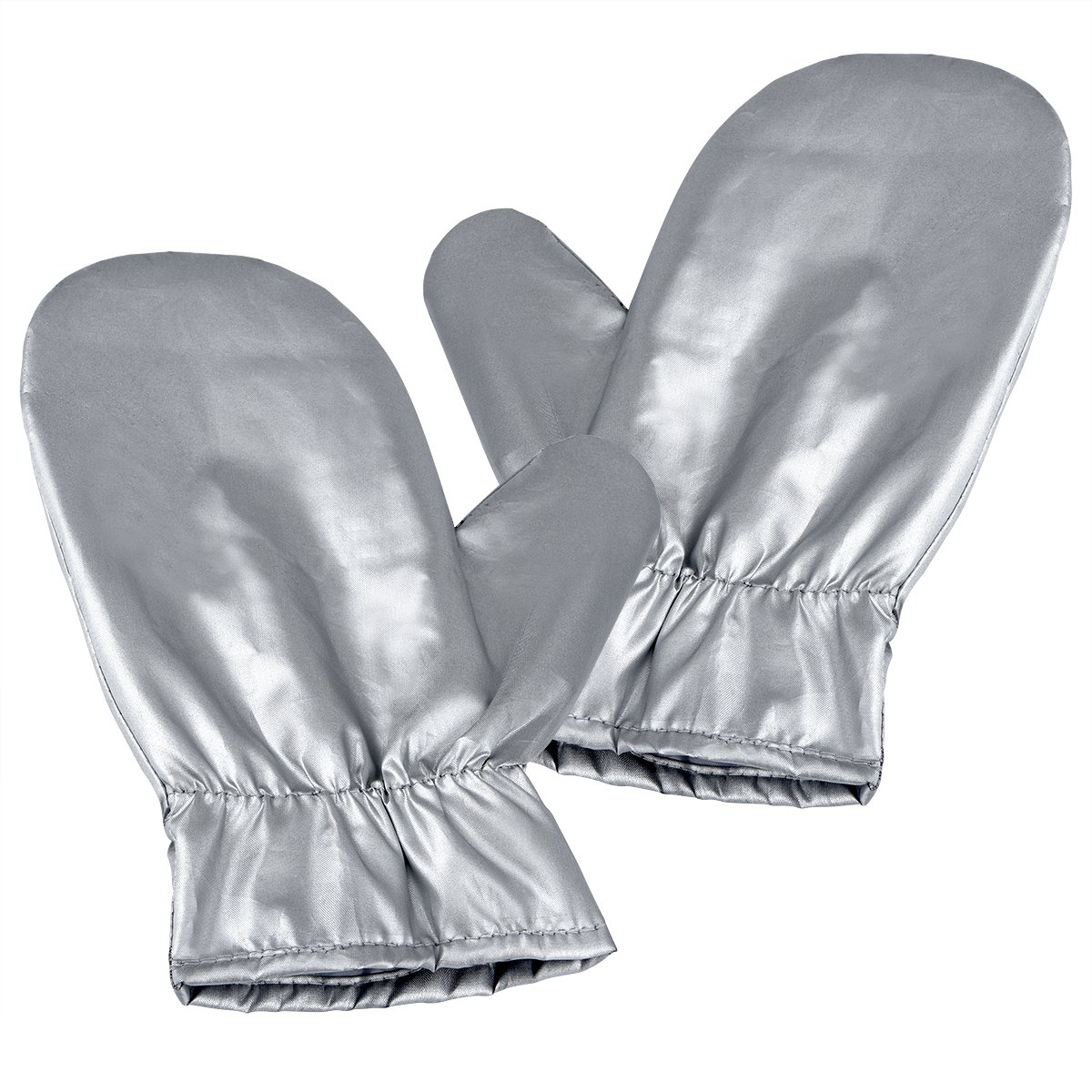 Upgraded Garment Steamer Ironing Gloves Mitt Tingtio Anti Steam Gloves Durable Heat Resistant Waterproof Protective Ironing Glove for Garment Steamer Silver-1 Pair