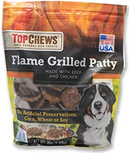 Top Chews Flame Grilled Patty- Made with Real Beef & Chicken