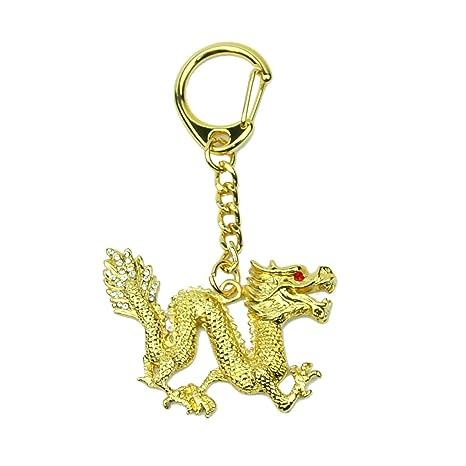 Amazon.com: Feng Shui Import Bejeweled Dragon Amulet ...
