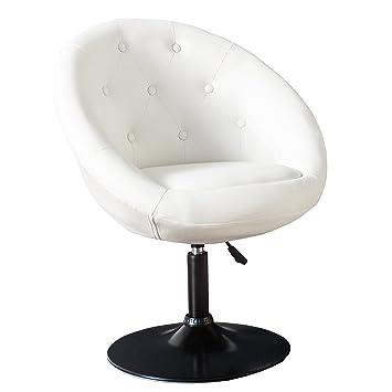 Drehsessel höhenverstellbar  Design Drehsessel COUTURE weiß höhenverstellbar im Loungedesign ...