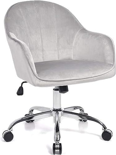Jacky Home Office Desk Velvet Home Computer Task Chair