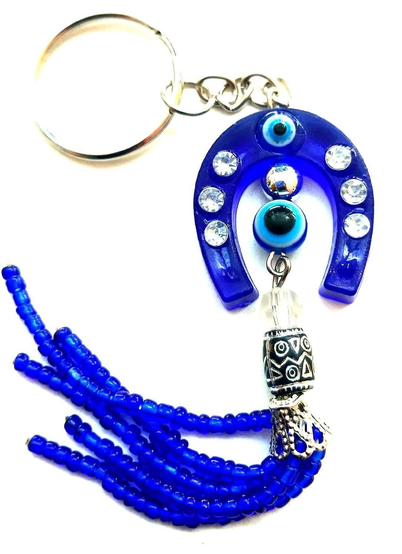 DevDeep - Llavero de Amuleto, diseño Turco, Color Azul Turco ...
