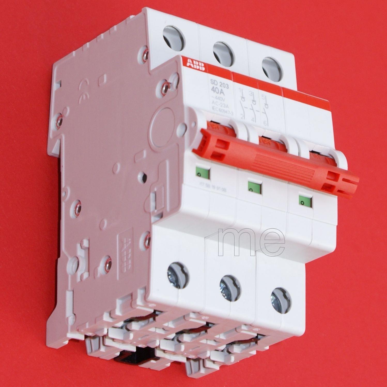 ABB SD203/40 Hauptschalter Lasttrennschalter Schalter 3-polig 40A ...