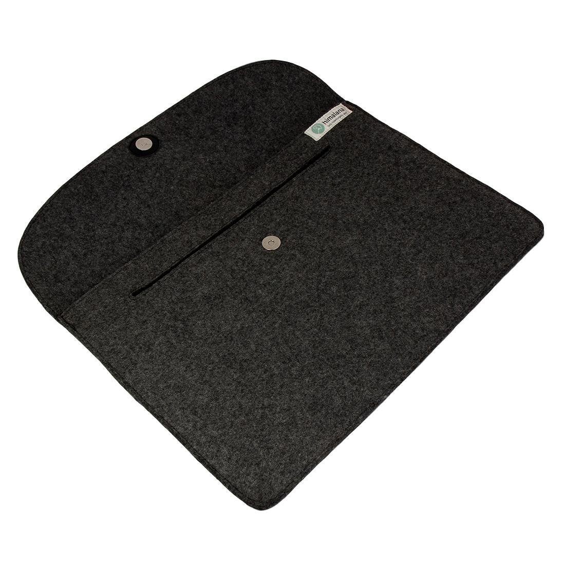 Mojopanda Virgin Organic Wool Felt 13-13.5 Inch Macbooks, Laptop Grey Sleeve Case Carrying Bag With 2 Back Pouches For Mobile Phones And An Inner Packet For Tab, Ipad Or Power Chord. by MOJO PANDA (Image #5)