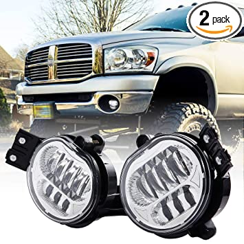 Amazon 2018 New Version LED Fog Light For Dodge Ram 1500 2002 2008 2500 3500 Pickup Truck 2003 2004 2005 2006 2007 2009 1 Pair
