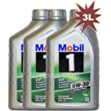 Mobil 1 0W-30 ESP Fully Synthetic Car Engine Motor Oil - 3x1L = 3L