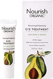 product image for Nourish Organic | Renewing & Hydrating Eye Treatment - Avocado & Argan | GMO-Free, Cruelty Free, 100% Vegan (0.5oz)