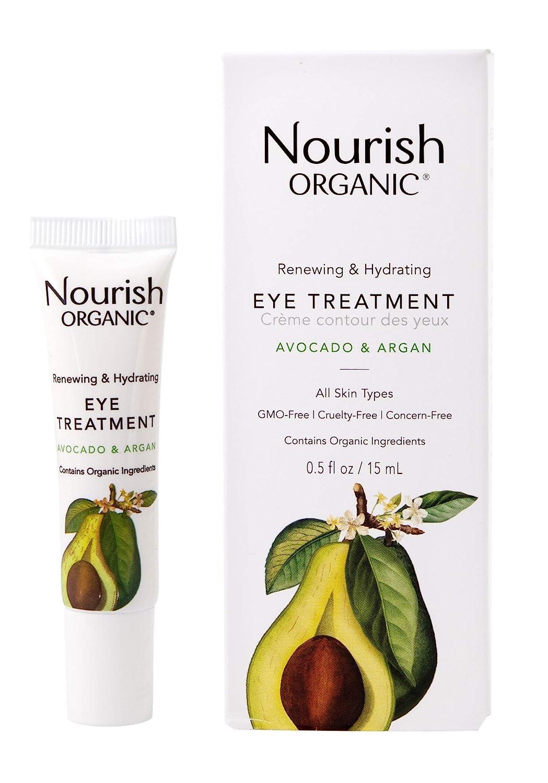 Nourish Organic Renewing + Cooling Eye Treatment, Avocado and Argan Oil, 0.5 Ounce