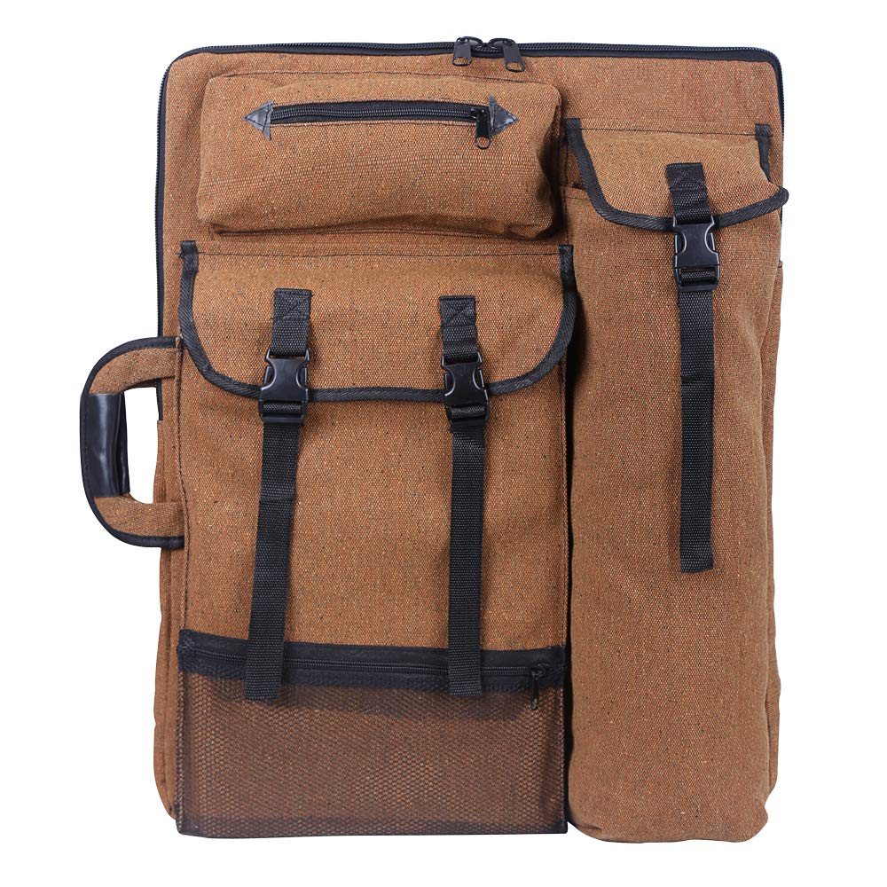 Artist bag, Sorliva riproduzione 4 K Artist portfolio Carry borsa a tracolla multifunzionale Drawboard borse per schizzi da disegno pittura Brown