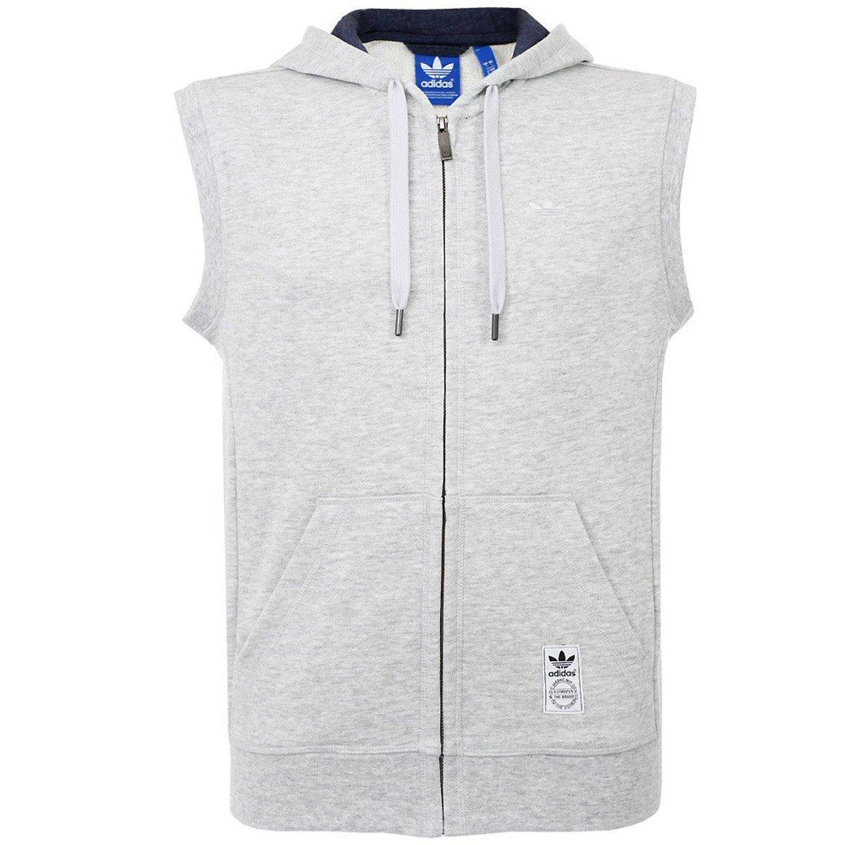 0dd30d8c45fee9 adidas Originals Mens PE Sleeveless Hoodie - Grey - X-Small  Amazon.co.uk   Sports   Outdoors