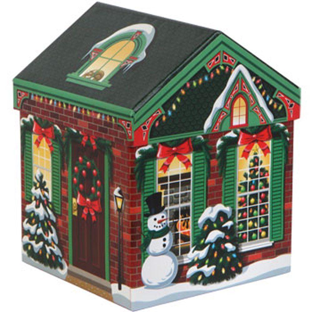 amazoncom set of 4 christmas holiday house shaped nested gift boxes with lids home kitchen