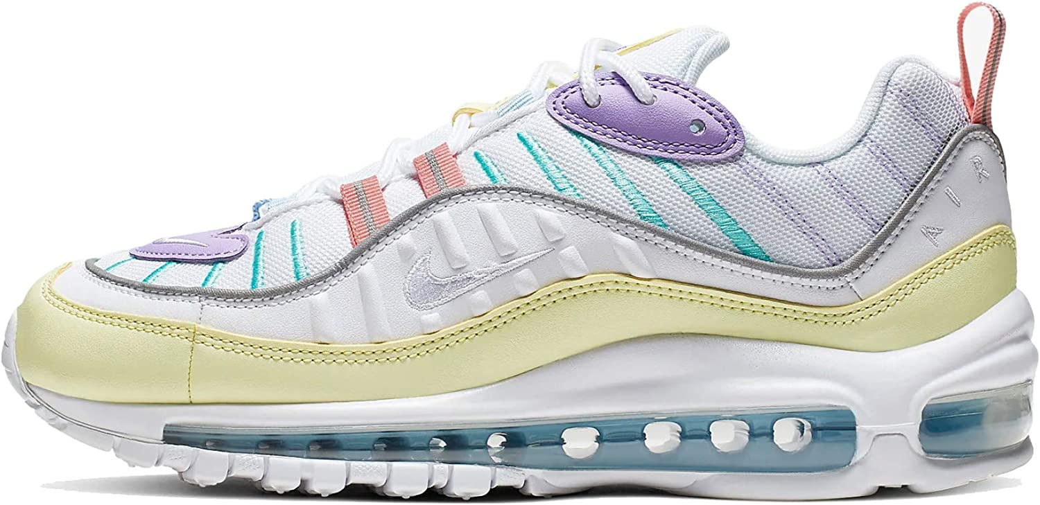 Nike Women's Running Shoes, Green Luminous Green White Atomic Violet Bleached Coral Psychic Blue Lt Aqua 300, 6.5 us