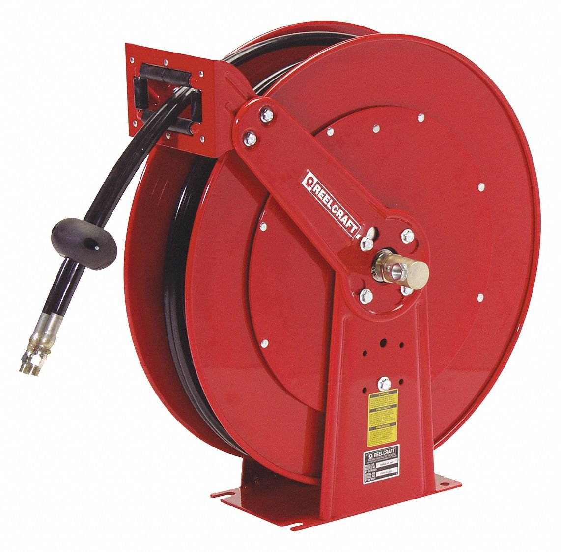 Reelcraft TH88050 OMP Twin Hydraulic Spring Retractable Hose Reel Twin Hydraulic Hose Included 1//2 x 50/' 2000 Psi 1//2 x 50