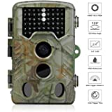 iado Caméra de Chasse Étanche IP65 Caméra de Surveillance Infrarouge Imperméable Vidéo 16MP 1080P HD 46 LED avec Accéléré 20m 120° PIR Grand Angle de Vision Invisible Caméra de Surveillance