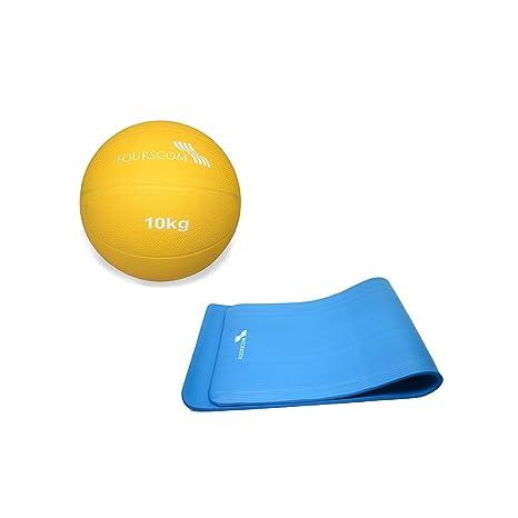 fourscom® Fitness Set: Balón Medicinal Fit pelota de ejercicios ...