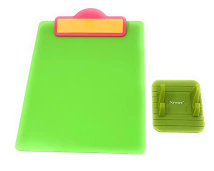 80d715a01890 Matching Portable clipboard and Notepad Holder Set. Sturdy Plastic Firm  Writing Board Surface. Versatile