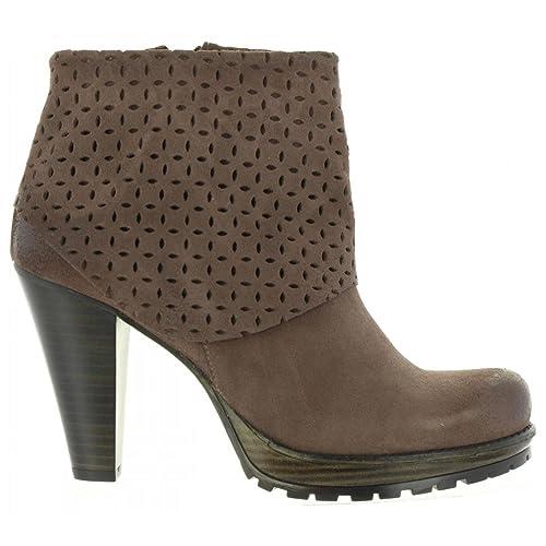 MTNG Botines de Mujer 93910 C103 Serraje Gris Talla 40: Amazon.es: Zapatos y complementos