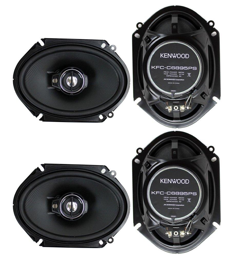 Kenwood KFC-PS6895C 6x8 3-Way Coaxial Car Speaker 360W Custom Fit