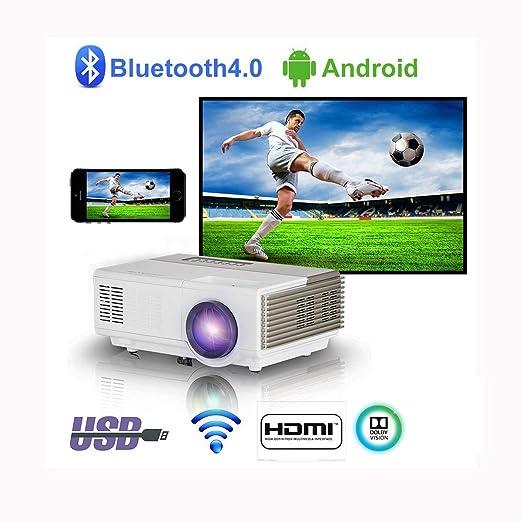 Proyector inalámbrico portátil HDMI Bluetooth Mini Android ...