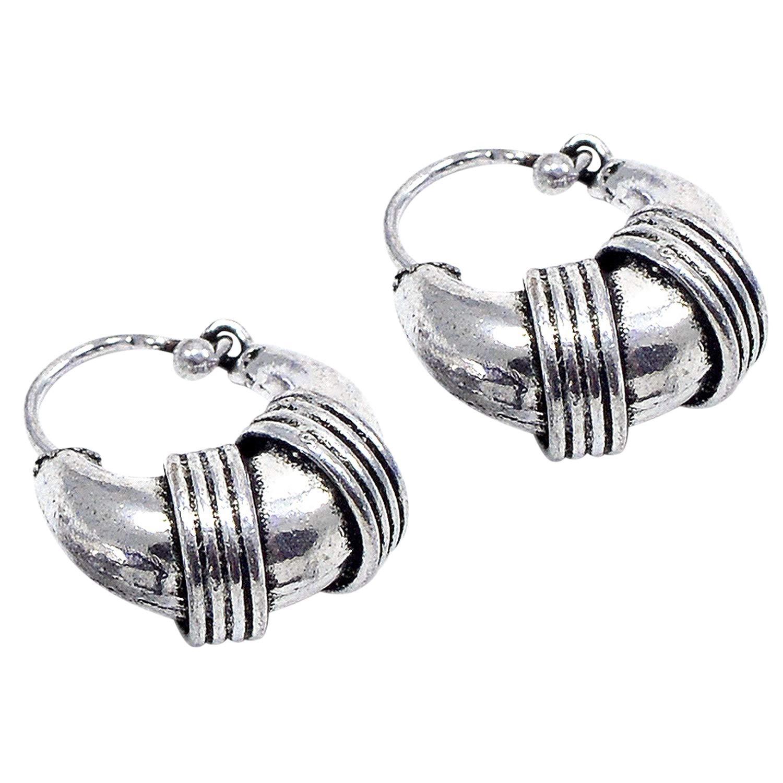 Silvestoo Jaipur 925 Silver Plated Earring For Women /& Girls PG-111327
