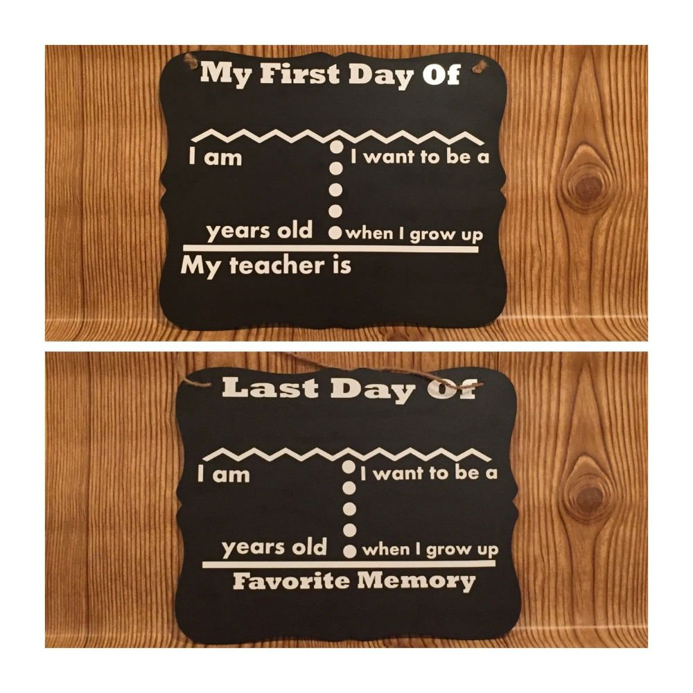 First Day of School Chalkboard - double sided