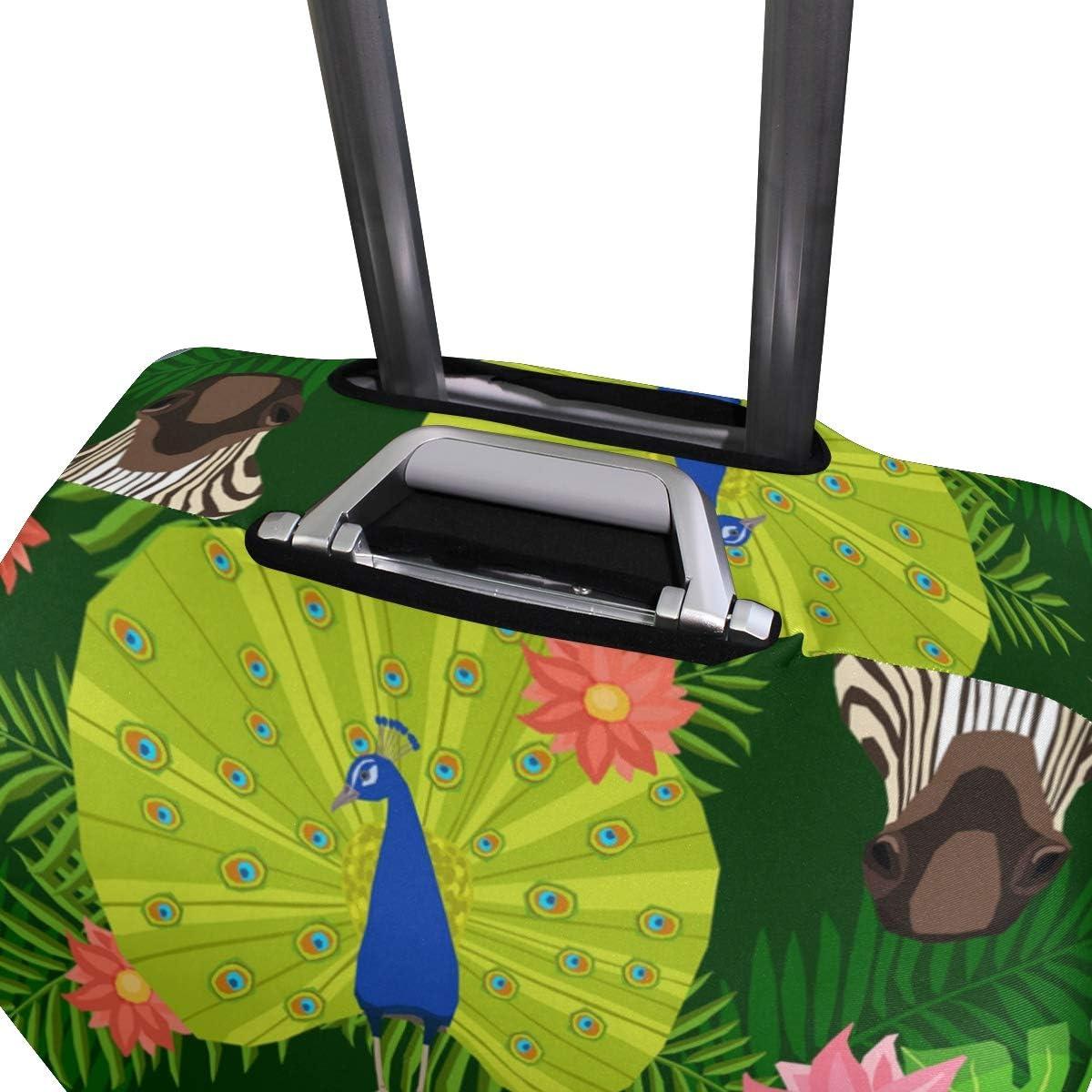 FANTAZIO Animals Panda Peacock Tiger Elepant Parrot Suitcase Protective Cover Luggage Cover