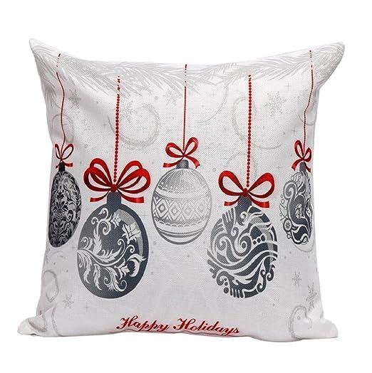 Sannysis Fundas cojín, Funda de almohada para navidad decoracion cojines (V)