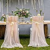 leegleri 2pcs tulle chair cover fluffy tutu chair skirt for bridal shower weddingbaby