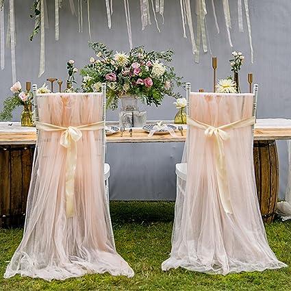 leegleri 2pcs tulle chair cover fluffy tutu chair skirt bridal shower weddingbaby shower