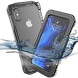 Forhouse Custodia Impermeabile iPhone XS Max Waterproof, IP68 Certificato 360 Gradi Caso Protettivo Sottile Antiurto AntiGraffio Subacquea Protettiva per iPhone XS Max Waterproof (Nero)
