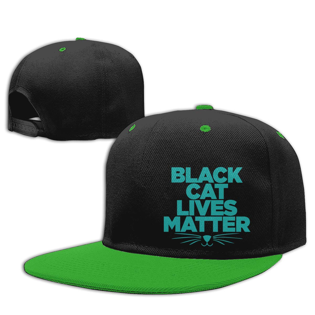 Women Men Dad Hat Black CAT Lives Matter-3 Adults Flat Bill Baseball Caps