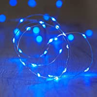ANJAYLIA Blue Fairy Lights 10Ft 30 LED String Lights Battery Operated for Wedding Home Dorm Party Craft Decorative…