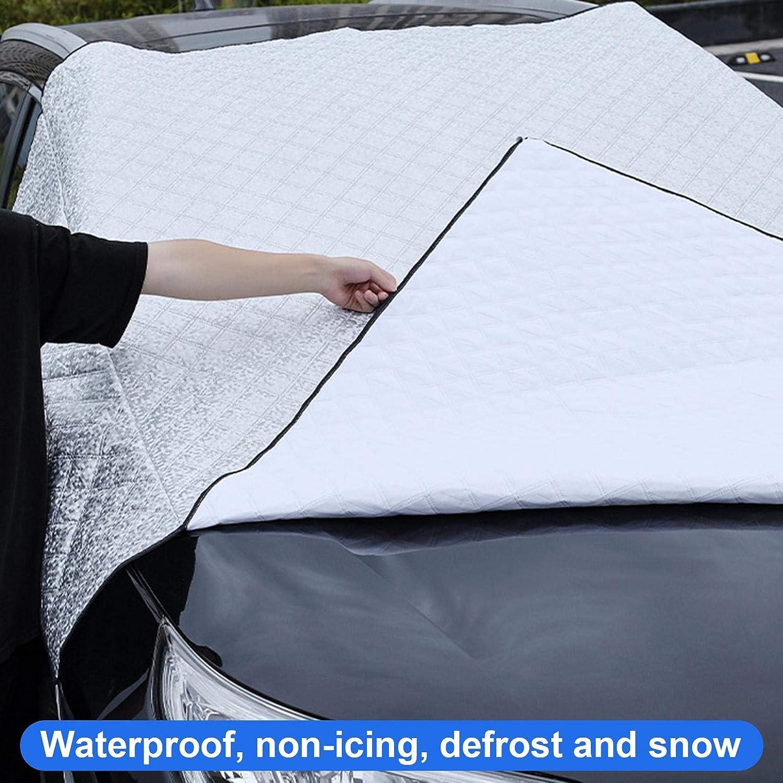 Bettying Parabrezza Invernale Parabrezza per Auto Copertura per Ghiaccio da Neve Copertura Protettiva Anti-Gelo per Parabrezza per Auto Parasole per Auto Protezione Universale per Parabrezza