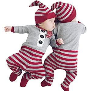 f08875277 sunnymi 2Pcs My First Christmas Clothes Set Newborn Infant Toddler Kids Baby  Boy Girl Xmas Rompers