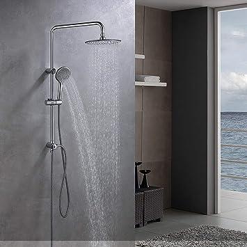 Lonheo Set de ducha de lluvia de acero inoxidable, sin termostato ...