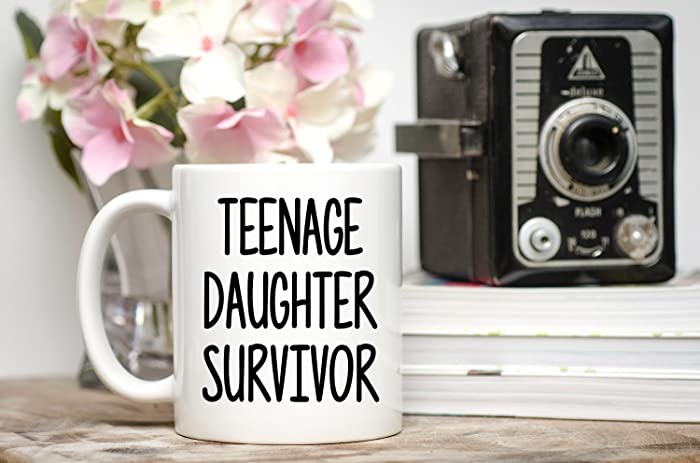 Image Unavailable Not Available For Color Teenage Daughter Survivor Funny Fathers Day Mug Gift