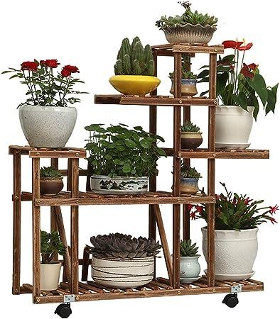 Estantes para plantas / estanteria jardin Soporte de flor de madera Soporte de exhibición de la flor