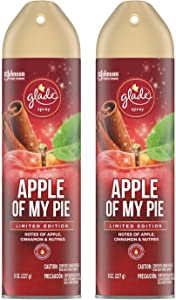 Glade Air Freshener Spray - Apple of My Pie - Holiday Collection 2020 - Net Wt. 8 OZ (227 g) Per Can - Pack of 2 Cans