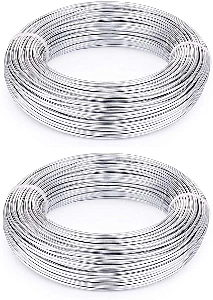 Aluminium Wire Rolls 10m Bendy Craft Silver Wire for Jewelry Making,DIY Sculpture,Modelling Making and Crafts Blue,Diameter-1.0mm