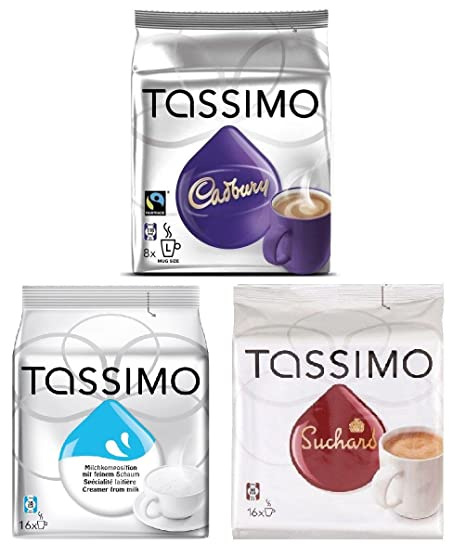 Tassimo Hot Chocolate Set Creamer Milk Cadbury Suchard X3 Packs40 T Discs Capsules