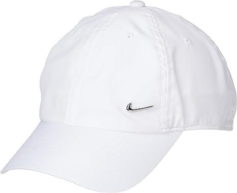canal Punto de referencia Inicialmente  Nike U Nk H86 Cap Metal Swoosh Hat, Unisex Adulto, White/(Metallic Silver),  MISC: Amazon.es: Ropa y accesorios