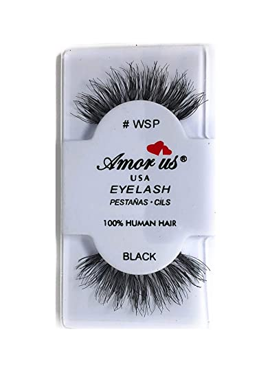 25d7d2ca39f Amazon.com: Amorus 100% Human Hair False Eyelashes #WSP - Black - (6 Pack)  - Wispy False Eyelashes - Glamorous Look of Fuller, Longer Lashes: Health  ...