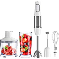 homgeek Hand Blender, 1000W 6-Speed Immersion Stick Blender with Turbo Button, 600ml Mixing Cup, 500ml Food Processor…