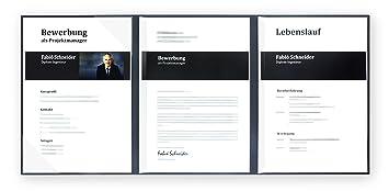 5 Stück 3 Teilige Bewerbungsmappen Lemani Prestige In Marineblau Mit