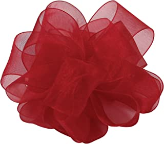 "product image for Offray Berwick LLC 713622 Berwick Simply Sheer Asiana Ribbon - 1-1/2"" W X 25 yd - Scarlet Ribbon"