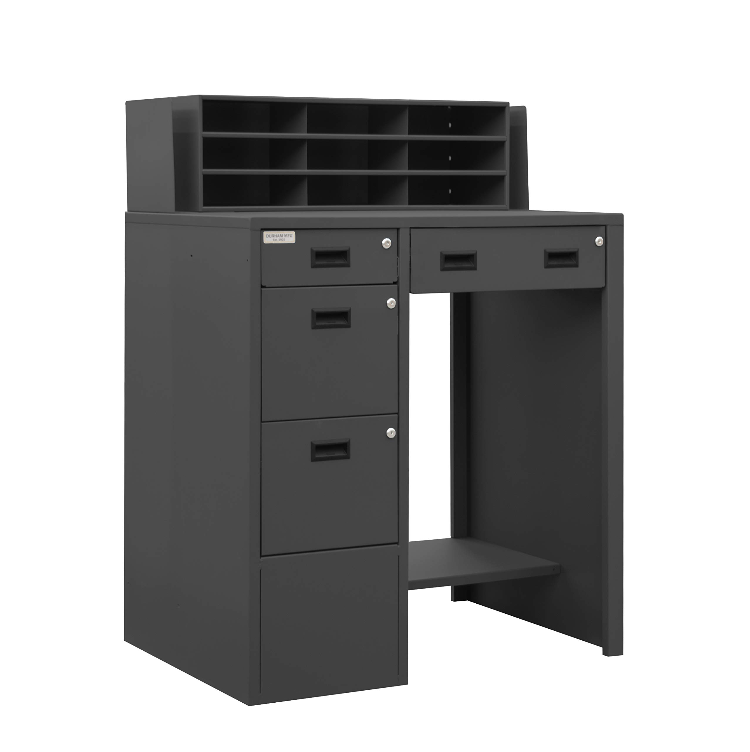 Durham 16 Gauge Steel Stationary File Work Station and Stand Up Desk, SFWS-392955-95 by Durham
