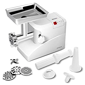 Giantex 2000 Watt Meat Grinder Electric 2.6 Hp Home Industrial Meat Grinder Sausage Maker Stuffer 3 Speed W/3 Stainless Steel Grinding Blades, Cutting Blades and Sausage Tubes