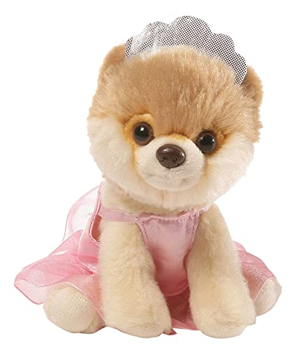 amazon com gund itty bitty boo ballerina dog stuffed animal plush